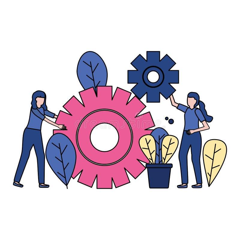 Geschäftsfraugänge vektor abbildung