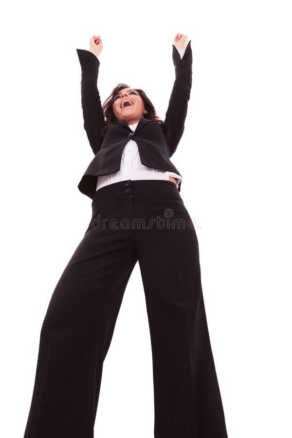 Geschäftsfrauhände in einer Luft stockbilder