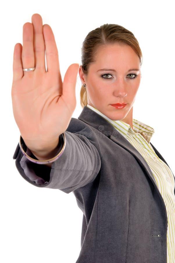 Geschäftsfrauhandanschlag lizenzfreies stockfoto