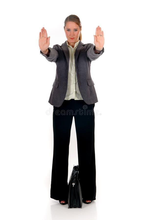 Geschäftsfrauhandanschlag lizenzfreie stockfotografie