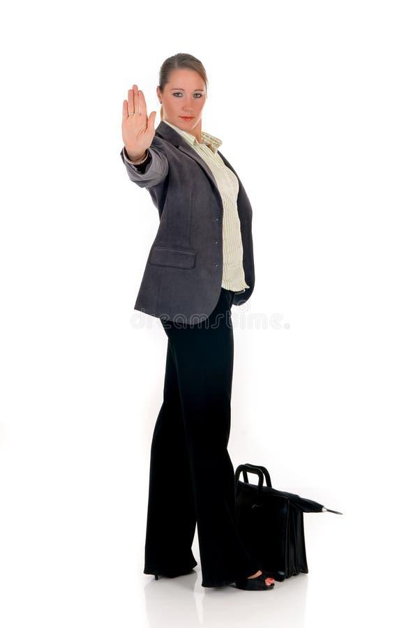 Geschäftsfrauhandanschlag stockfotos