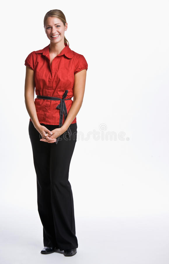 Geschäftsfraulächeln stockfotos