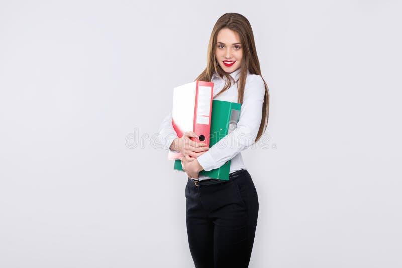 Geschäftsfraulächeln lizenzfreies stockfoto