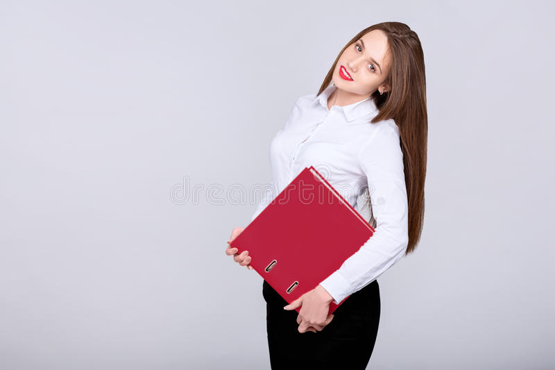 Geschäftsfraulächeln stockfotografie