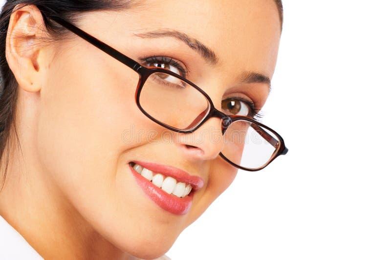 Geschäftsfraulächeln. lizenzfreie stockfotografie