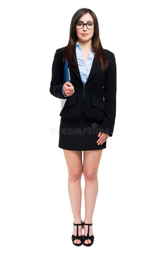 Geschäftsfrauporträt in voller Länge lizenzfreies stockfoto