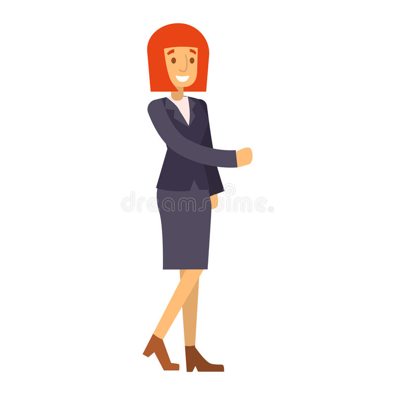 Geschäftsfrauschattenbild lizenzfreie abbildung