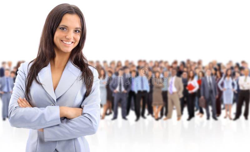 Geschäftsfraustellung lizenzfreies stockbild