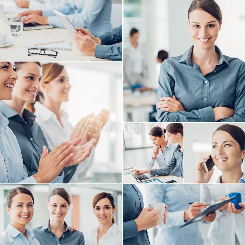 Geschäftsfrauteam stockfotos