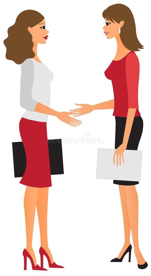 Geschäftsfrautreffen vektor abbildung