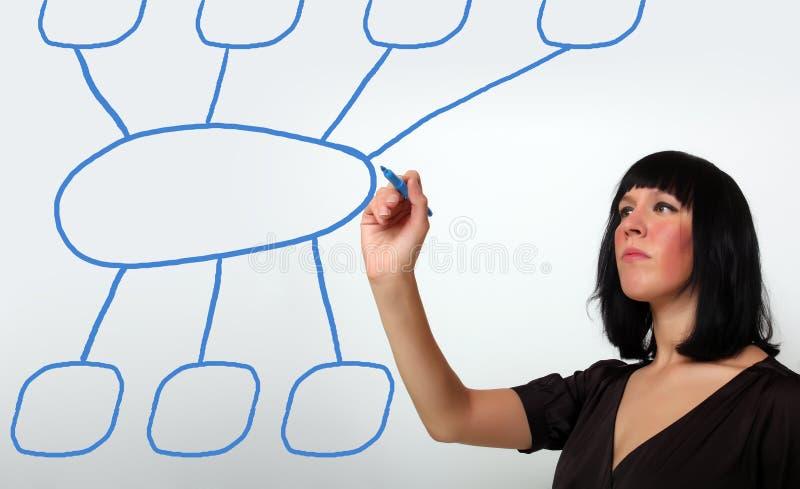 Geschäftsfrauzeichnen stockfoto