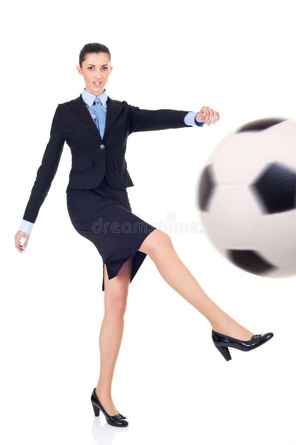 Geschäftsfußball lizenzfreies stockbild