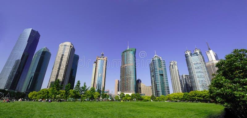 Geschäftsgebäude Shanghai China stockbild