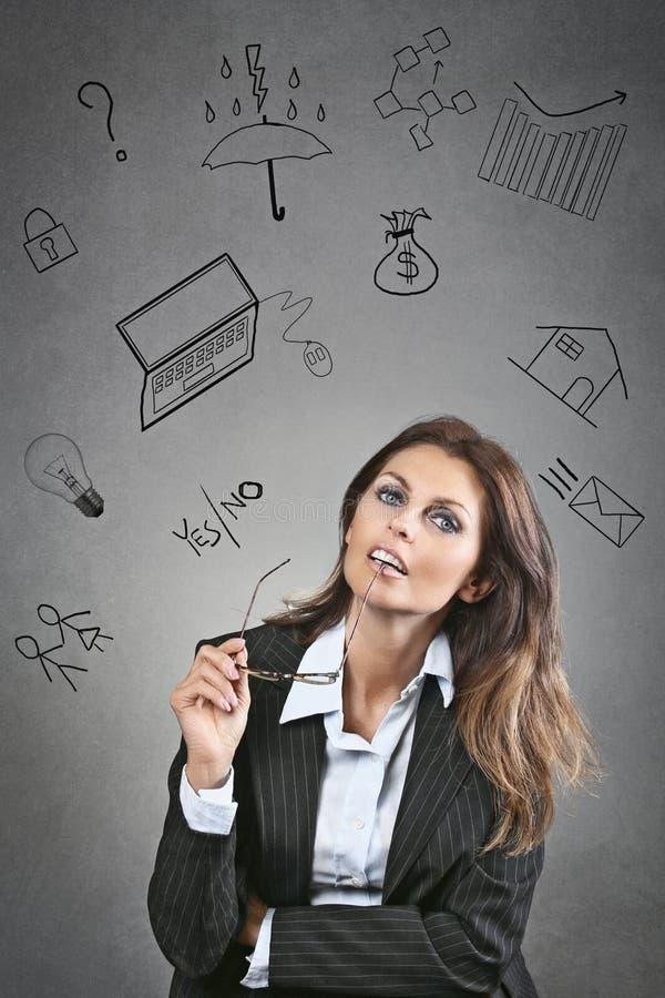 Geschäftsgedanken lizenzfreies stockfoto