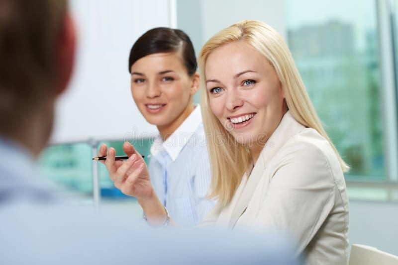 Geschäftsgespräch stockfoto