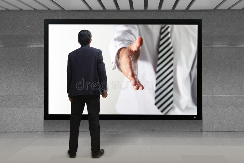 Geschäftshändedruck lizenzfreie stockbilder