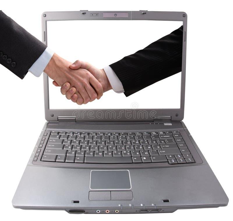 Download Geschäftshanderschütterung stockbild. Bild von elektronik - 9094697