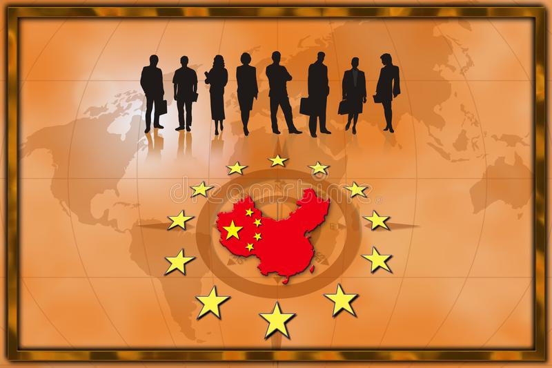 Geschäftshintergrund China stock abbildung