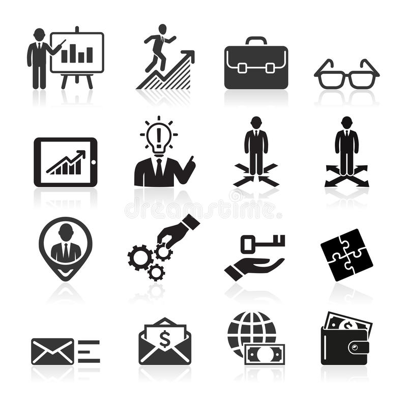 Geschäftsikonen, -management und -Personalwesen. lizenzfreie abbildung