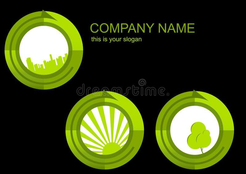 Geschäftsikonen und -karte lizenzfreie abbildung