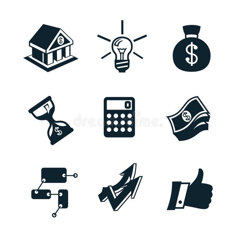 Geschäftsikonensatzteil 3 lizenzfreie abbildung