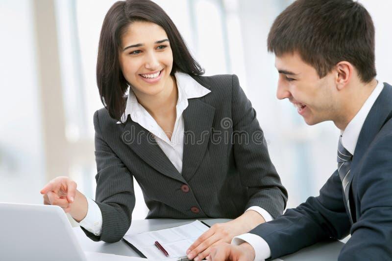 Geschäftskollegen stockbild
