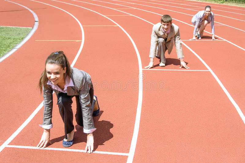Geschäftskonkurrenz stockfotografie