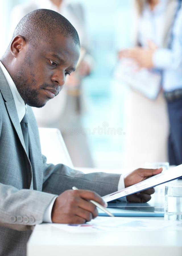 Geschäftskonzentration stockbild