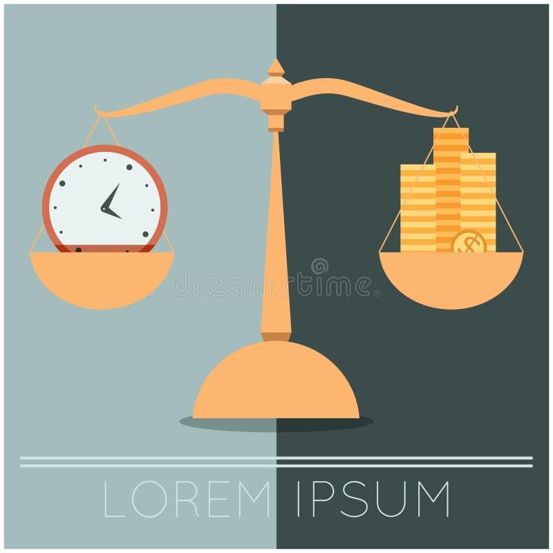 Geschäftskonzept über Zeit und Geld lizenzfreie abbildung