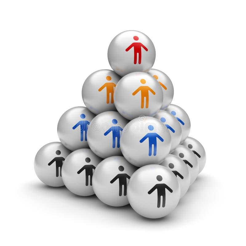 Teamwork-Pyramide stock abbildung