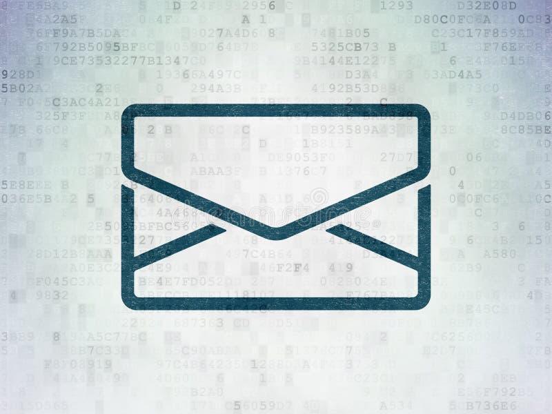 Geschäftskonzept: E-Mail auf Digital-Daten-Papierhintergrund stock abbildung