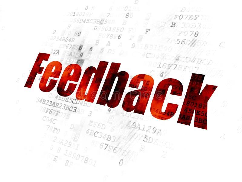 Geschäftskonzept: Feedback auf Digital-Hintergrund lizenzfreie abbildung