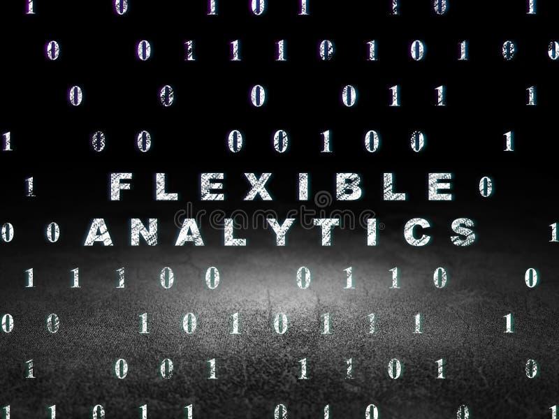 Geschäftskonzept: Flexible Analytik im Schmutz lizenzfreie abbildung