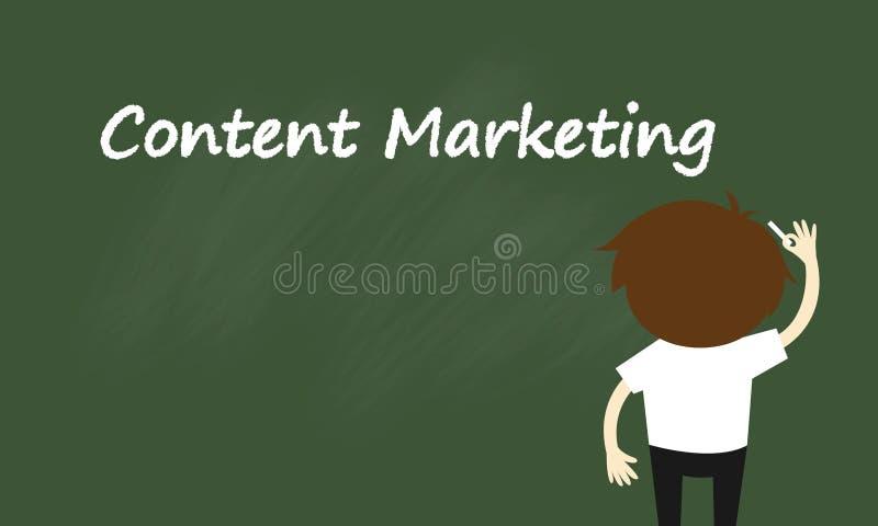 Geschäftskonzept, Geschäftsmann schreibt über zufriedenes Marketing lizenzfreie abbildung