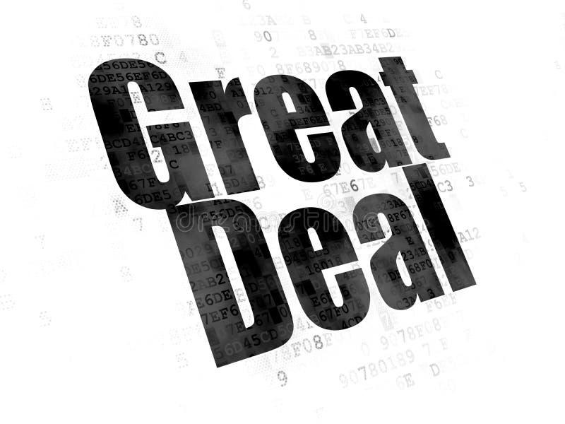 Geschäftskonzept: Großes Abkommen auf Digital-Hintergrund lizenzfreie abbildung