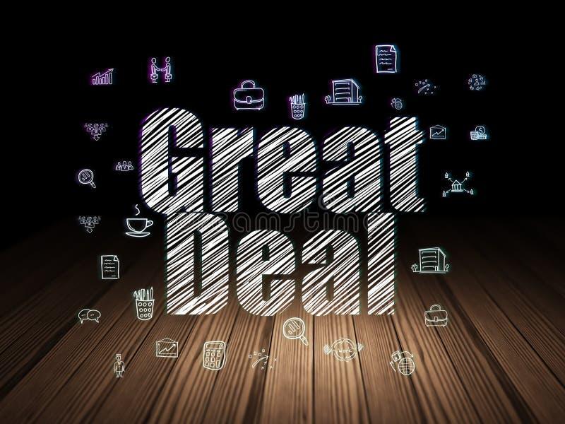 Geschäftskonzept: Großes Abkommen in der Schmutzdunkelkammer vektor abbildung
