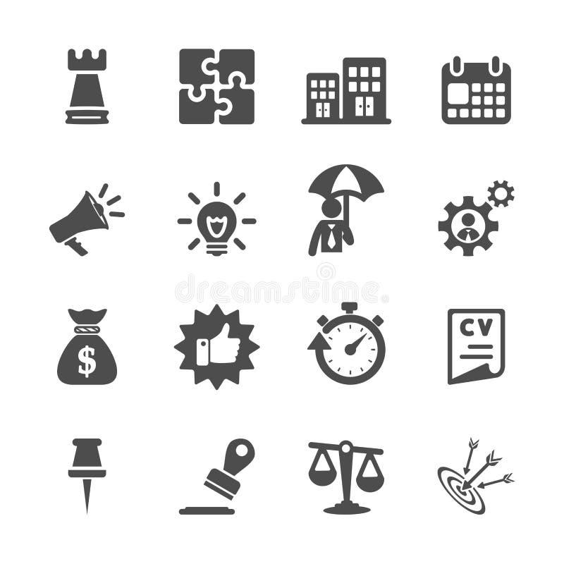 Geschäftskonzept-Ikonensatz, Vektor eps10 stock abbildung