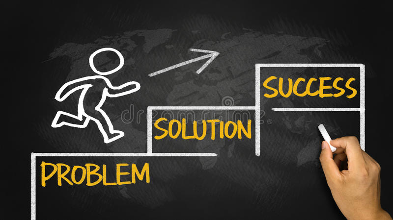 Geschäftskonzept: Problemlösungserfolg lizenzfreies stockfoto