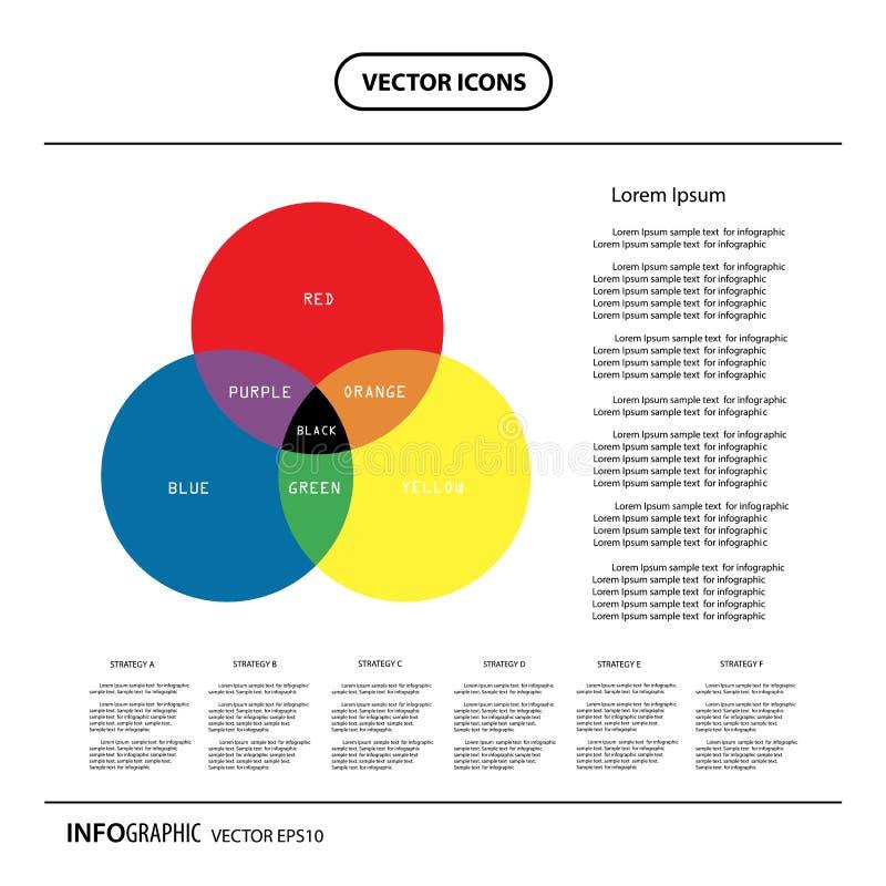GeschäftsKreisdiagramm für Dokumente und Berichte vektor abbildung