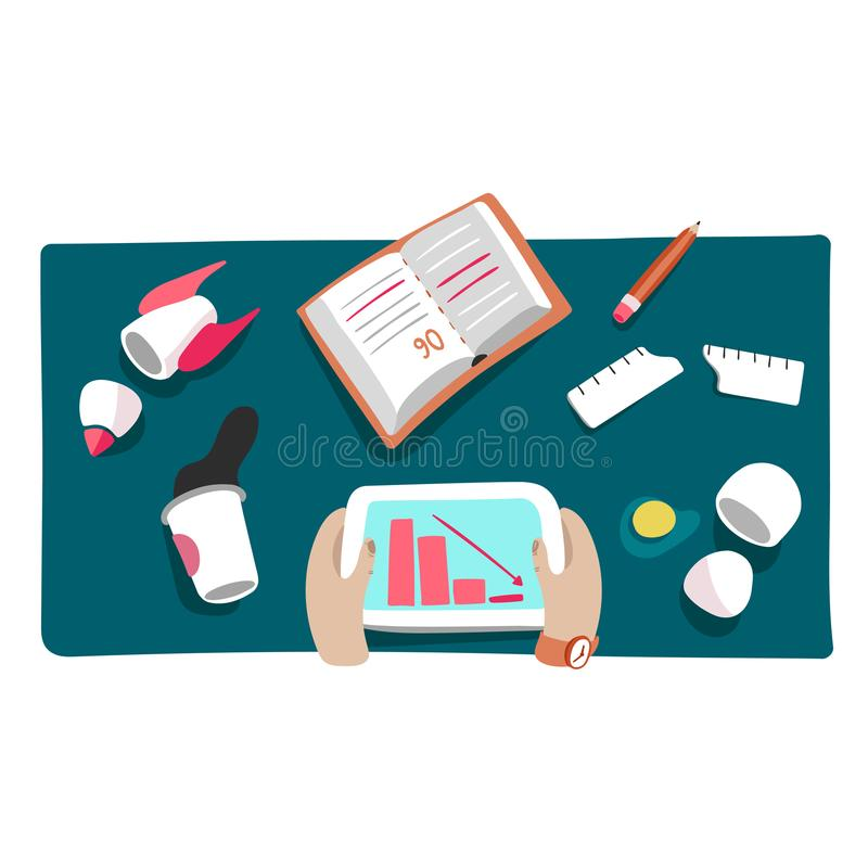 Geschäftskrise oder Startabbruchsvektorillustration stock abbildung