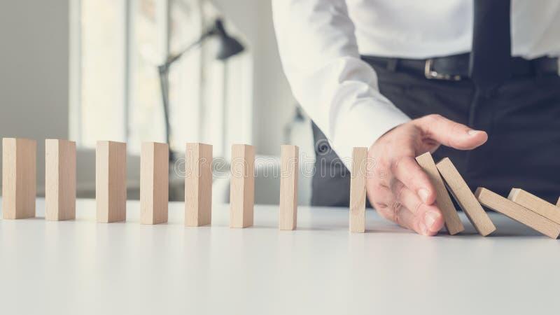 Geschäftskrisenmanagementkonzept stockfoto