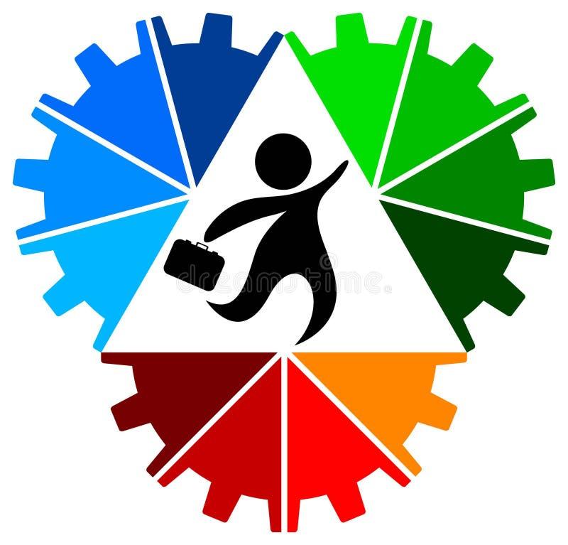 Geschäftslack-läufer lizenzfreie abbildung