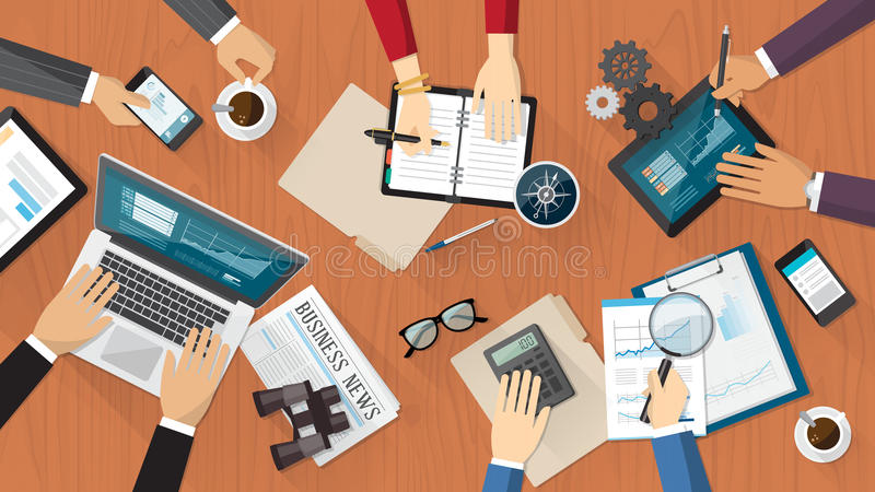 Geschäftsleute Arbeiten stock abbildung