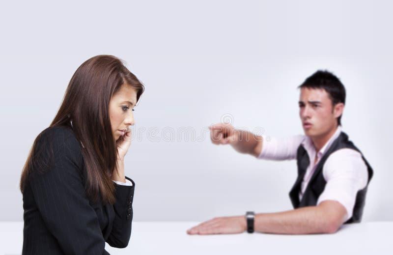 Geschäftsleute Argumentierung lizenzfreie stockbilder