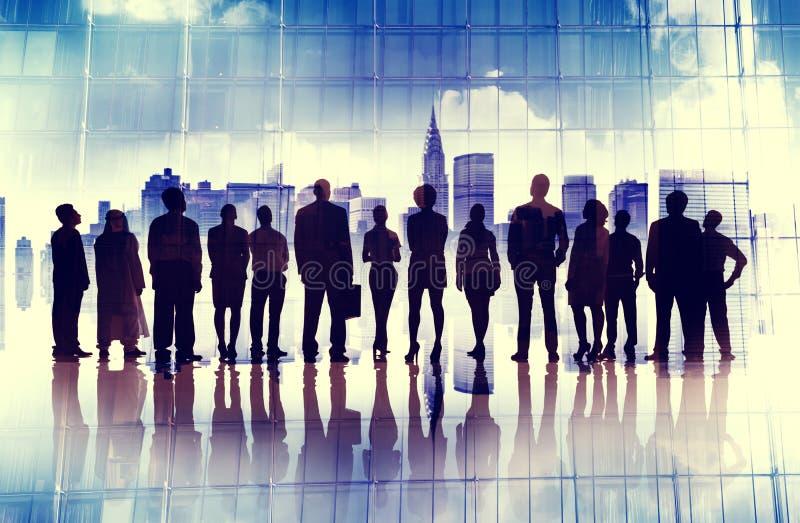Geschäftsleute Aspirations-Ziel-Unternehmensstadt-Konzept- lizenzfreies stockbild