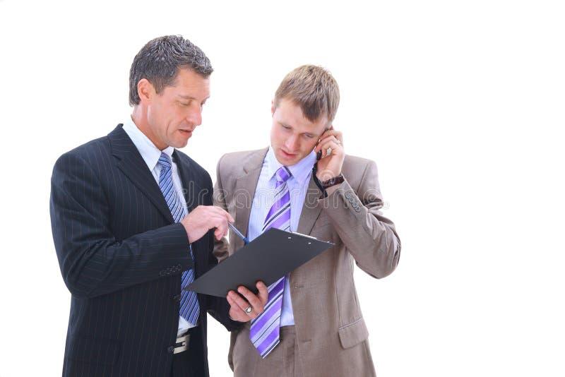 Geschäftsleute Behandeln stockfotografie