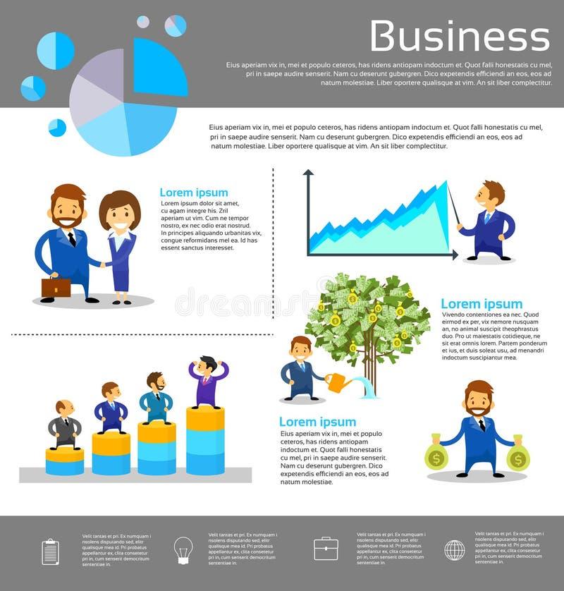 Geschäftsleute des Finanzerfolgs-Infographic vektor abbildung