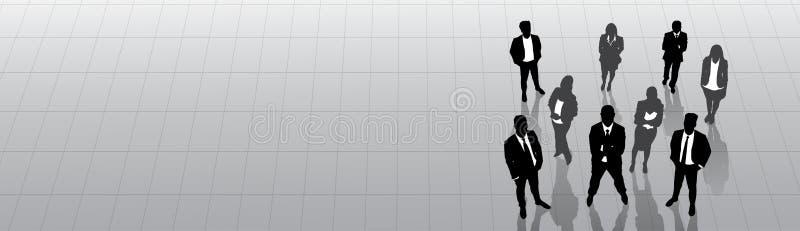 Geschäftsleute des schwarzen Schattenbild-Team Businesspeople Group Human Resources vektor abbildung