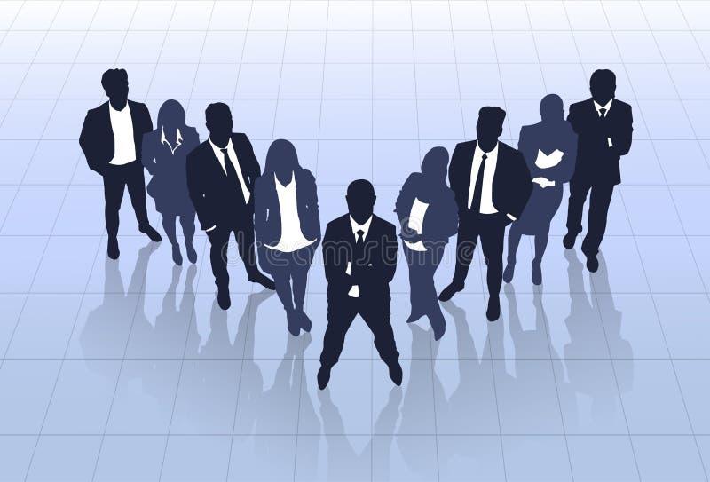 Geschäftsleute des schwarzen Schattenbild-Team Businesspeople Group Human Resources lizenzfreie abbildung
