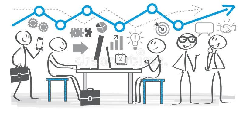 Geschäftsleute, die in einem Büro arbeiten vektor abbildung
